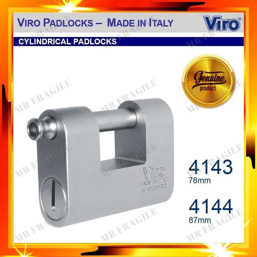Viro ONE-PIECE BODY SPECIAL STEEL PADLOCK MONOLITH Art.4143 4144 (MADE IN ITALY)
