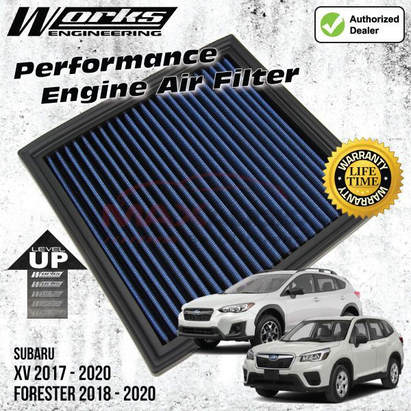[FREE Gift] SUBARU XV 2017 - 2020, FORESTER 2018 - 2020 WORKS ENGINEERING Performance Air Filter