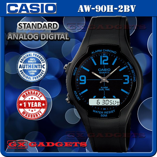 5ea7397a465 CASIO AW-81-1A1V SERIES STANDARD ANALOG DIGITAL WATCH TELEMEMO WORLD TIME  WR50M