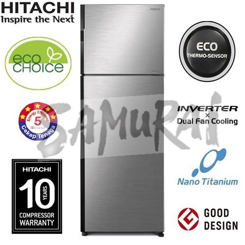 HITACHI INVERTER 2 DOOR FRIDGE 230L RH240P7M BSL