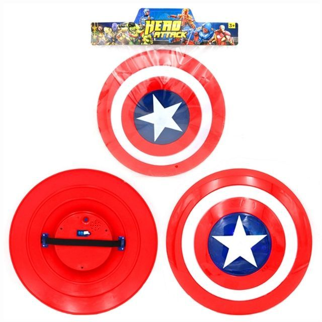 Captain America Voice Flash Shield for Captain America Costume Keep A Hero Safe As Kids Toys Gift with LED Light 5.0