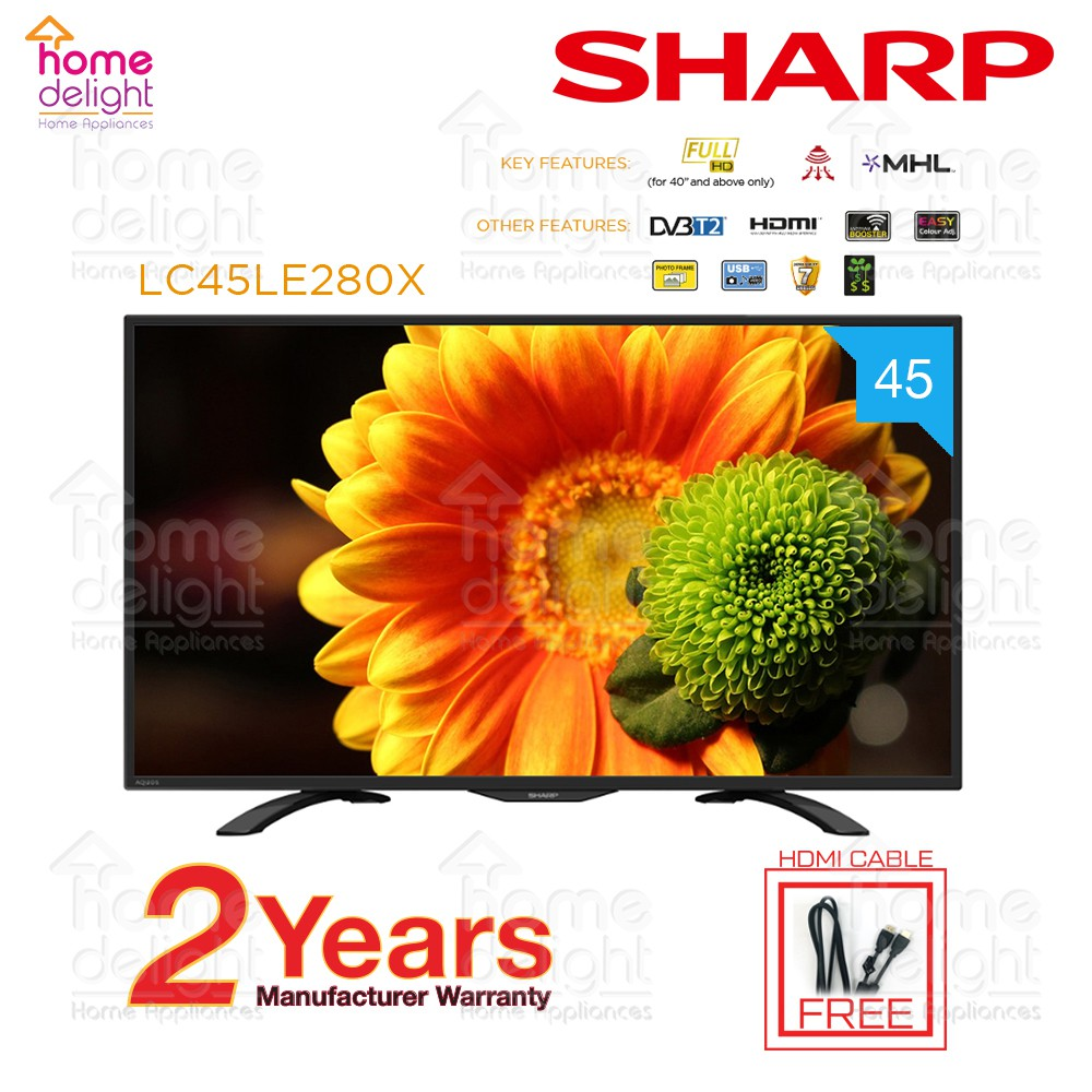 """Sharp LC45LE280X 45"""" FULL HD LED TV with Digital Tuner"""