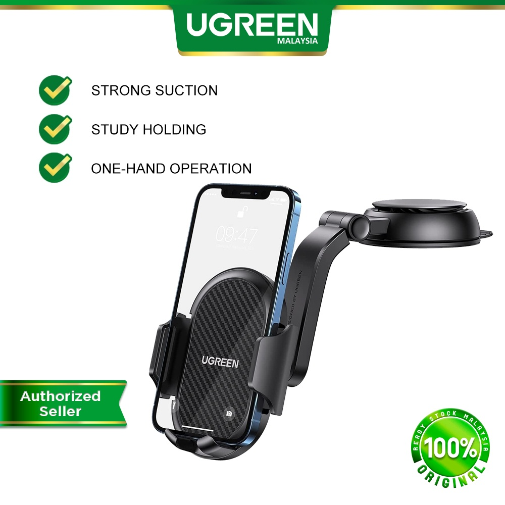 UGREEN Dashboard Phone Holder Car Suction Cup Phone Mount Mobile Mount iPhone 12 11 Pro Max Galaxy S21 Ultra S20 Huawei