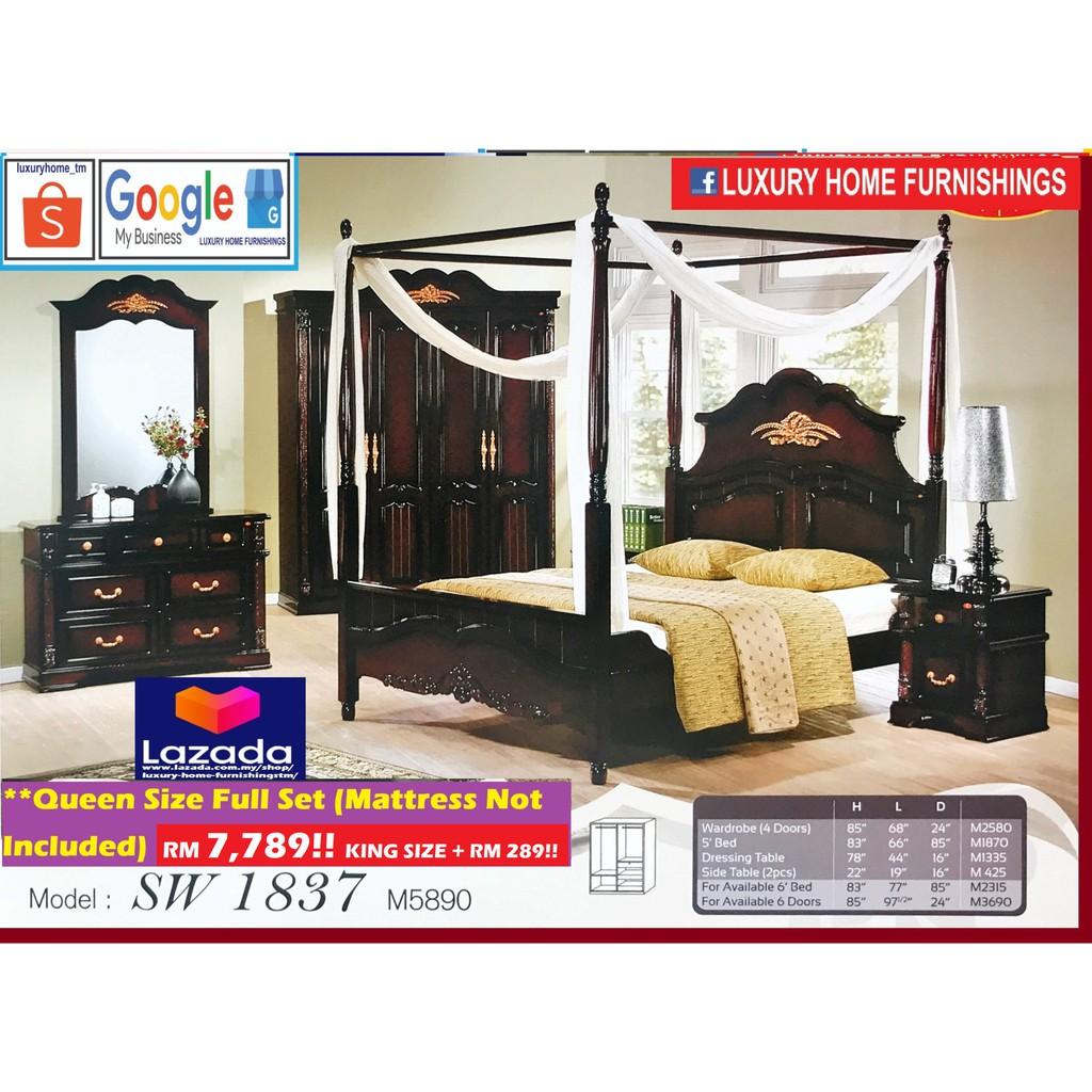 Bed Room Set, Open Door, Luxury Series