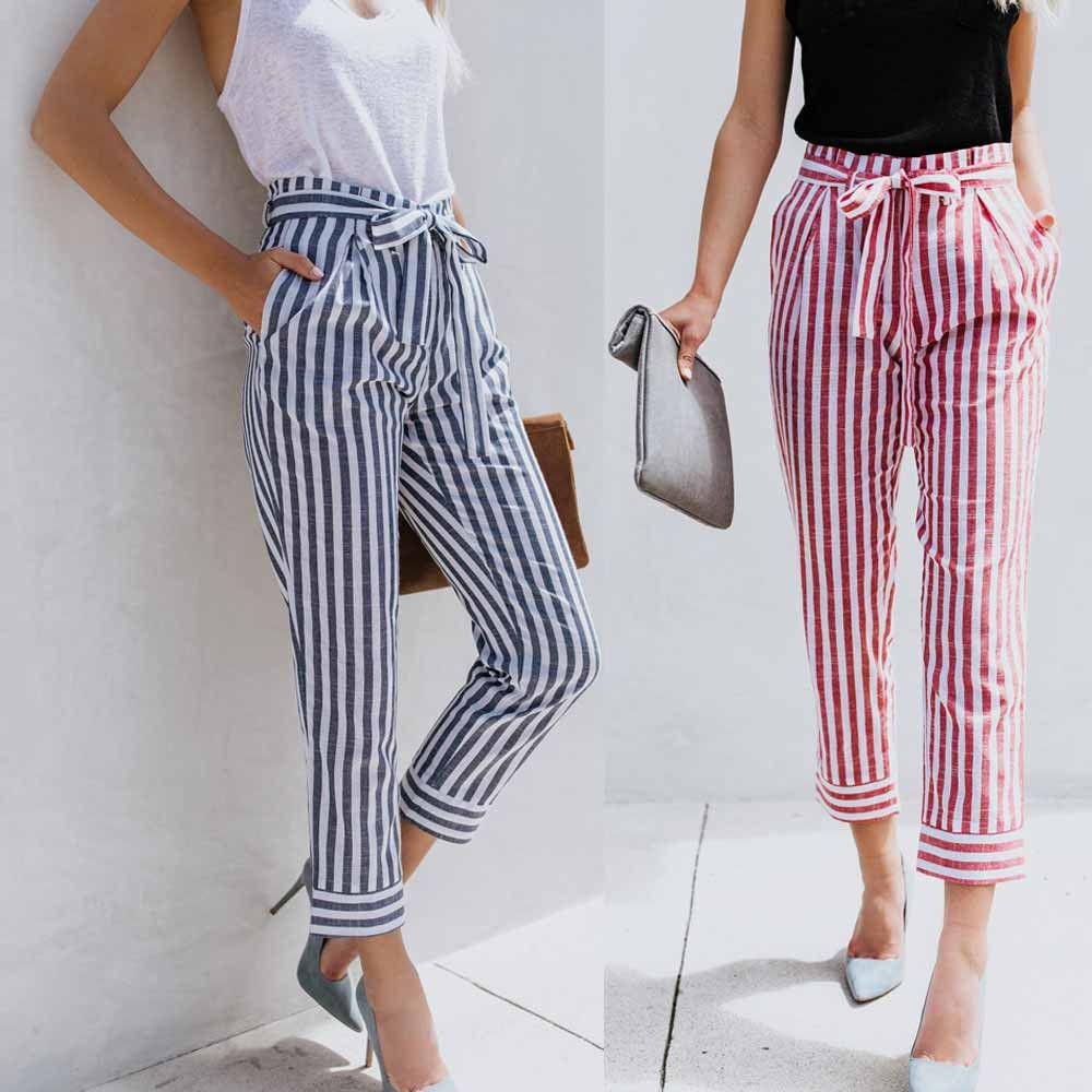 8a908e4a4a 1pc Womens Elastic Waist Casual Pants Shein Exposed Zip Fly Plaid Peg Pants  | Shopee Malaysia