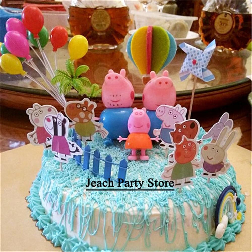 Peppa Pig Birthday Cake Decorations  from cf.shopee.com.my
