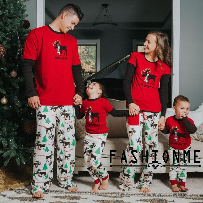 Matching Family Outfits Generous 2018 Family Matching Christmas Pajamas Set Women Men Baby Kids Boy Girl Snowman Sleepwear Nightwear Cottont-shirt Pants