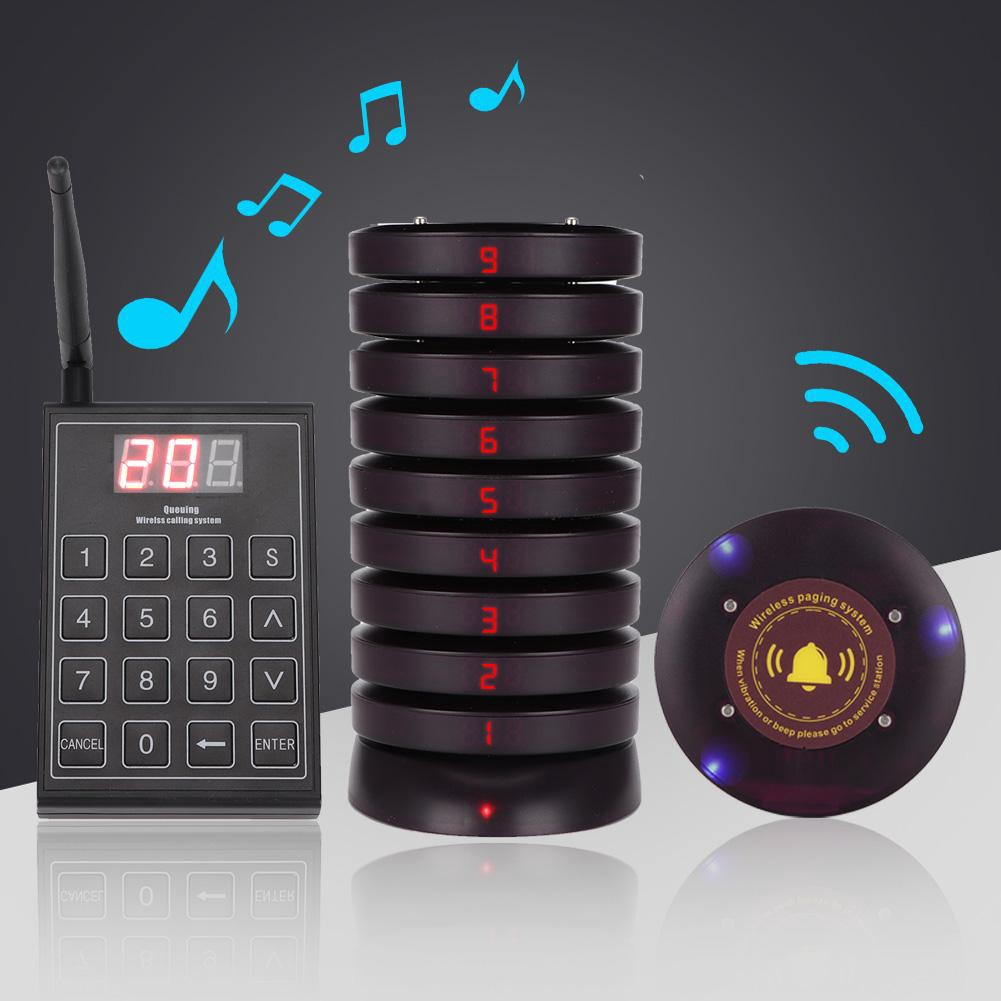 Welcomehome 10 * Receiver + 1 * Keyboard transmitter with charging base,  Restaurant receiver Call queue with noise reduc