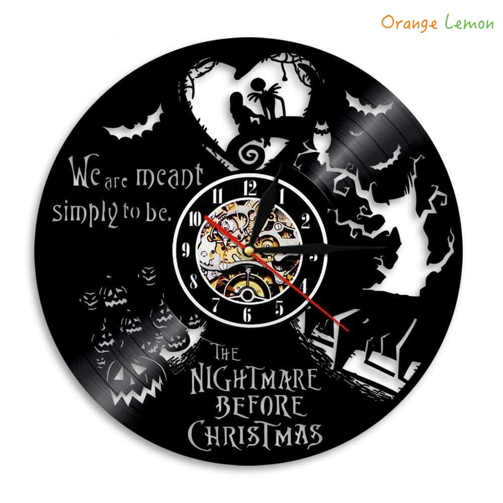 The Nightmare Before Christmas Vinyl Clock LED Wall Light Control ...