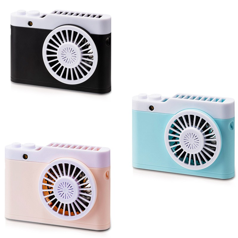 USB Portable Cooling Air,Double-Blade Fan That Can Swing 20/° Left and Right,Office Desktop Cooling Fan BAIYI Air Cooler