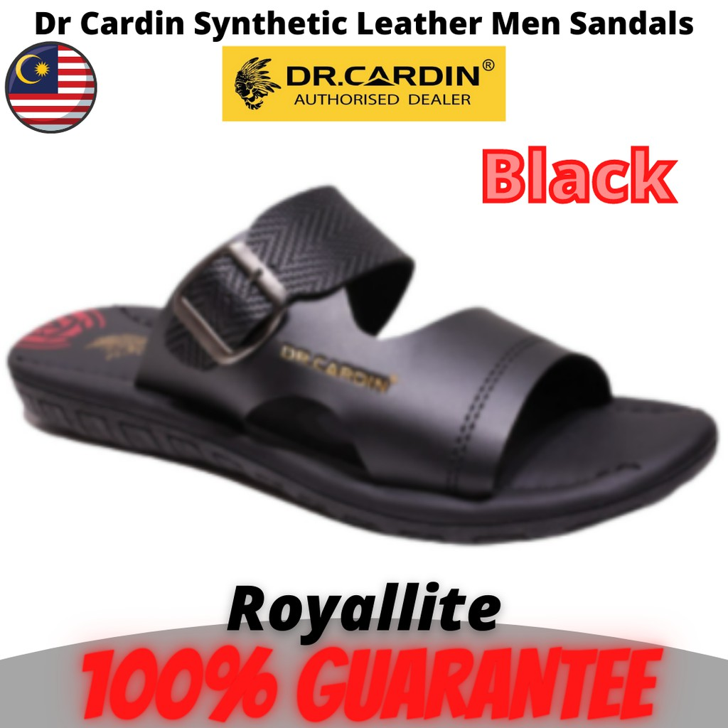 Dr Cardin Synthetic Leather Cushioned Men Sandals (D-GHP-7802) Black & Dk.Brown