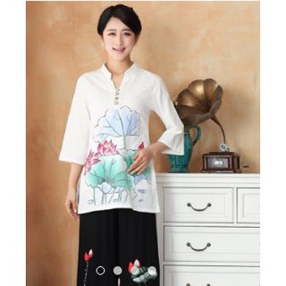 Clearance sale reputation first exceptional range of styles Women Plus Size Floral Chinese Blouse