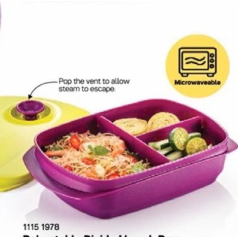 💥clearing💥Tupperware microwaveable lunch box dividen 1L