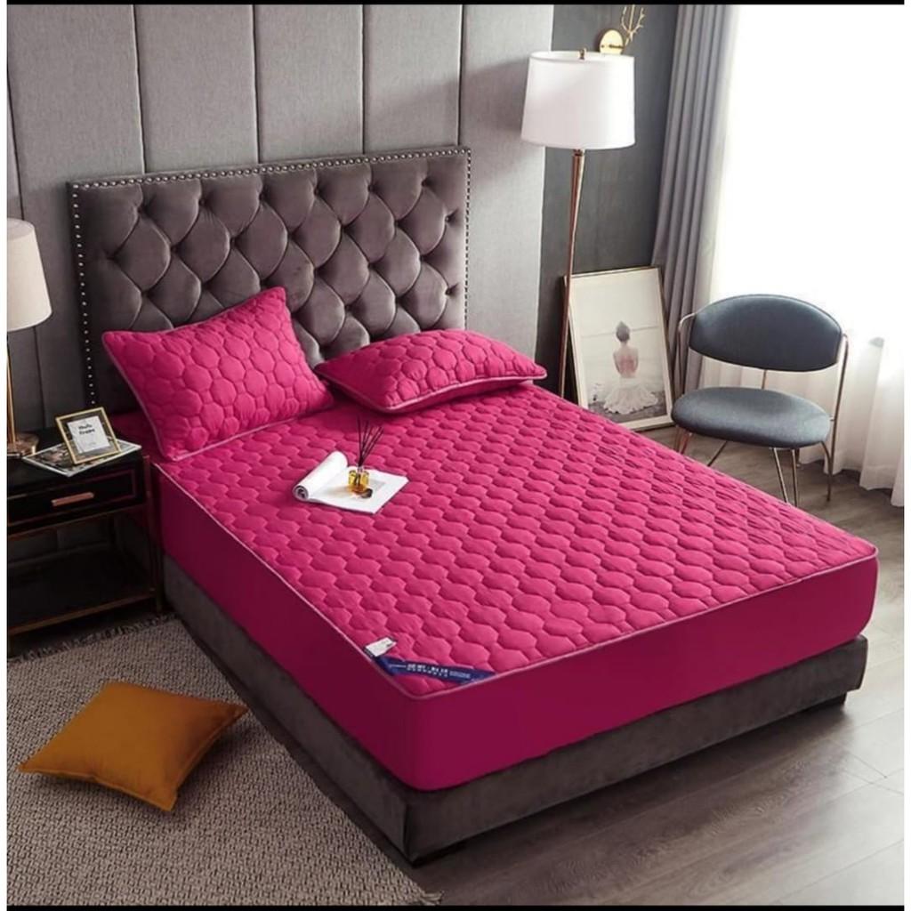 CADAR HOTEL HILTON 3 in1  Plain Single Queen & King [ Ready Stock ] for Bed Decor   Cadar Patchwork