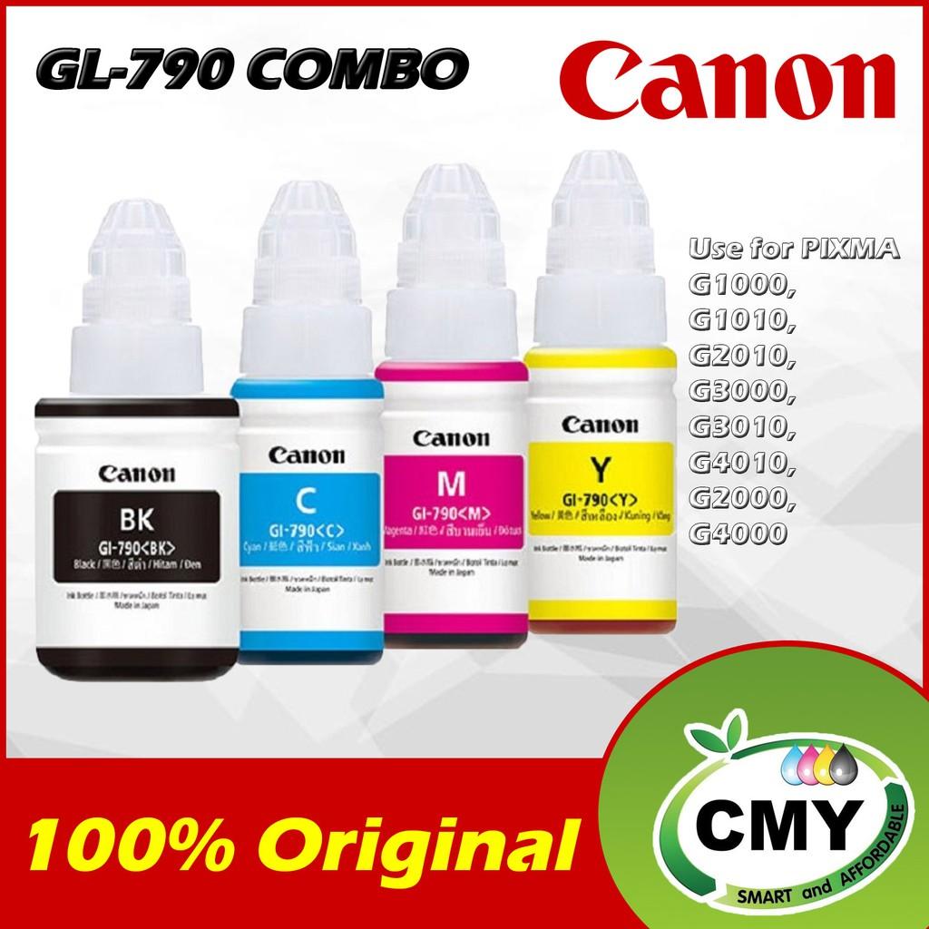Canon GL-790 GI-790 Series Inks Black / Cyan / Magenta / Yellow for G1000 G1010 G2000 G2010 G3000 G3010 G4000 G4010