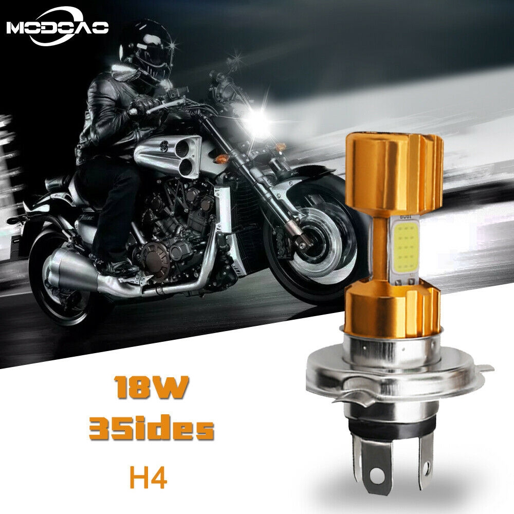 COB Motorcycle P15D H6 LED Headlight Bulb 16W Moped Scooter Bike Lamp Replace 1x