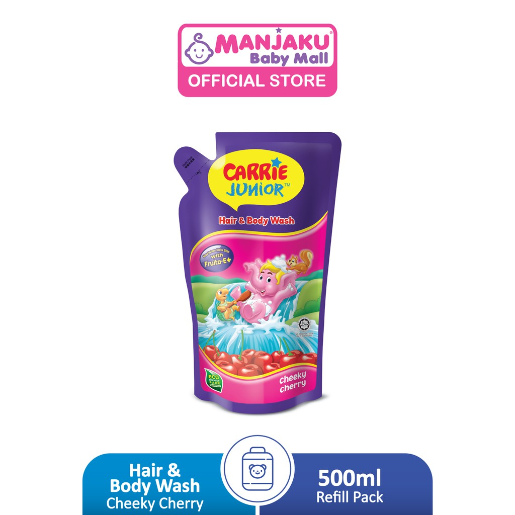 Carrie Junior Baby Hair & Body Wash Refill Pack Pouch (500g) - Assorted Flavor