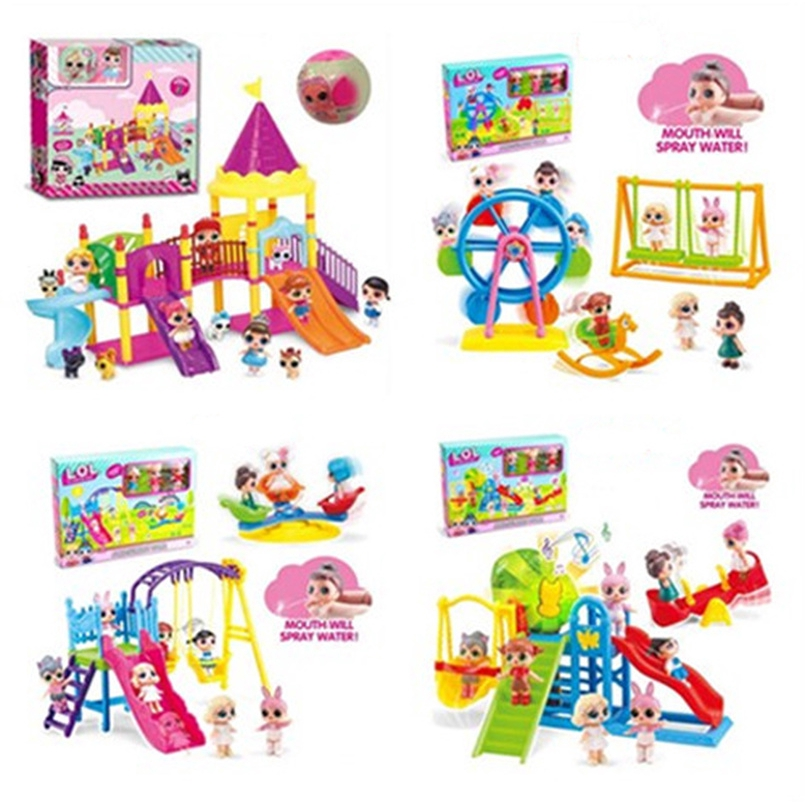 Novelty LOL Surprise Doll Park House Game Slide Playset Baby Girls Kids  Gift Toy