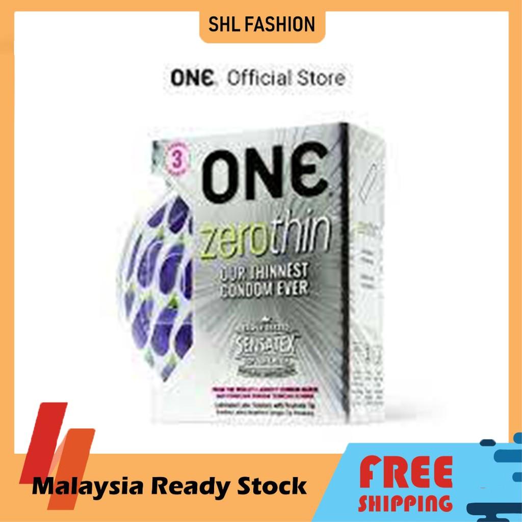 ONE Condom Zerothin 3pcs Kondom SHL Ready Stock 安全套 避孕套