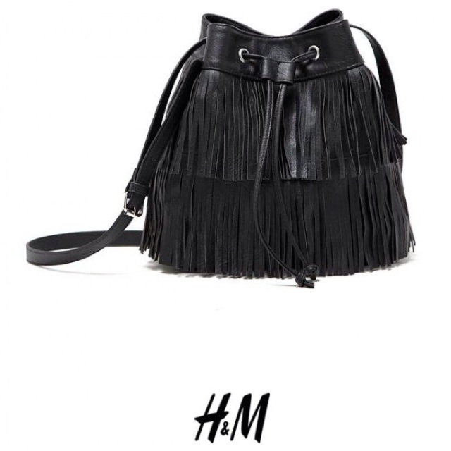 new lower prices the latest run shoes 🎀SALE! H&M FRINGED BUCKET BAG (BLACK) | Shopee Malaysia