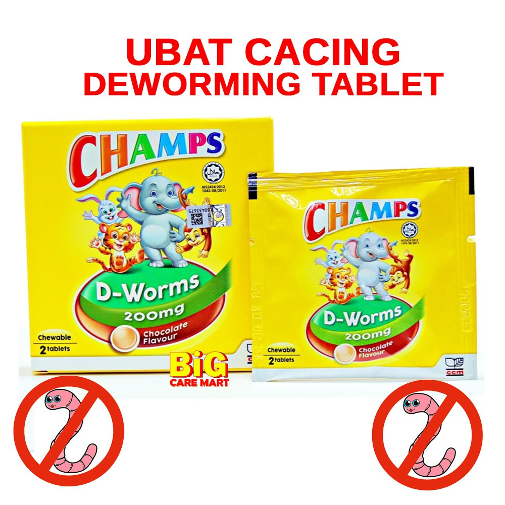 Champs D Worms Ubat Cacing 2 Tablets
