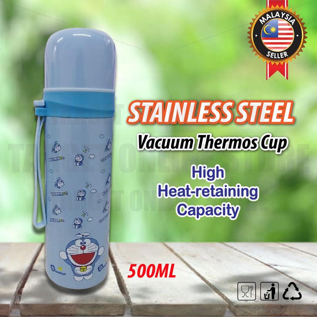 Water Bottle Cartoon Straw Cup School Stainless Steel Kids Cute Thermos Mini Carakter 500 Ml Sport Shopee Malaysia