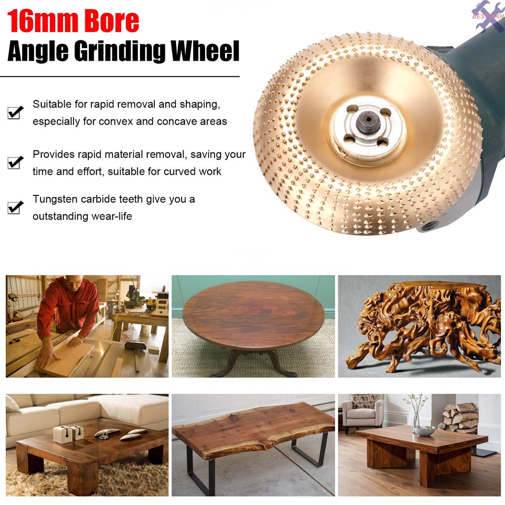 Carbon Steel Wood Angle Grinding Wheel Sanding Carving Rotary Tool Abrasive Disc