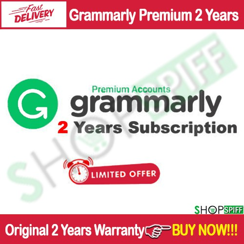 Grammarly Premium Account Unlimited Access For 2 Years [ PLUS Warranty ]