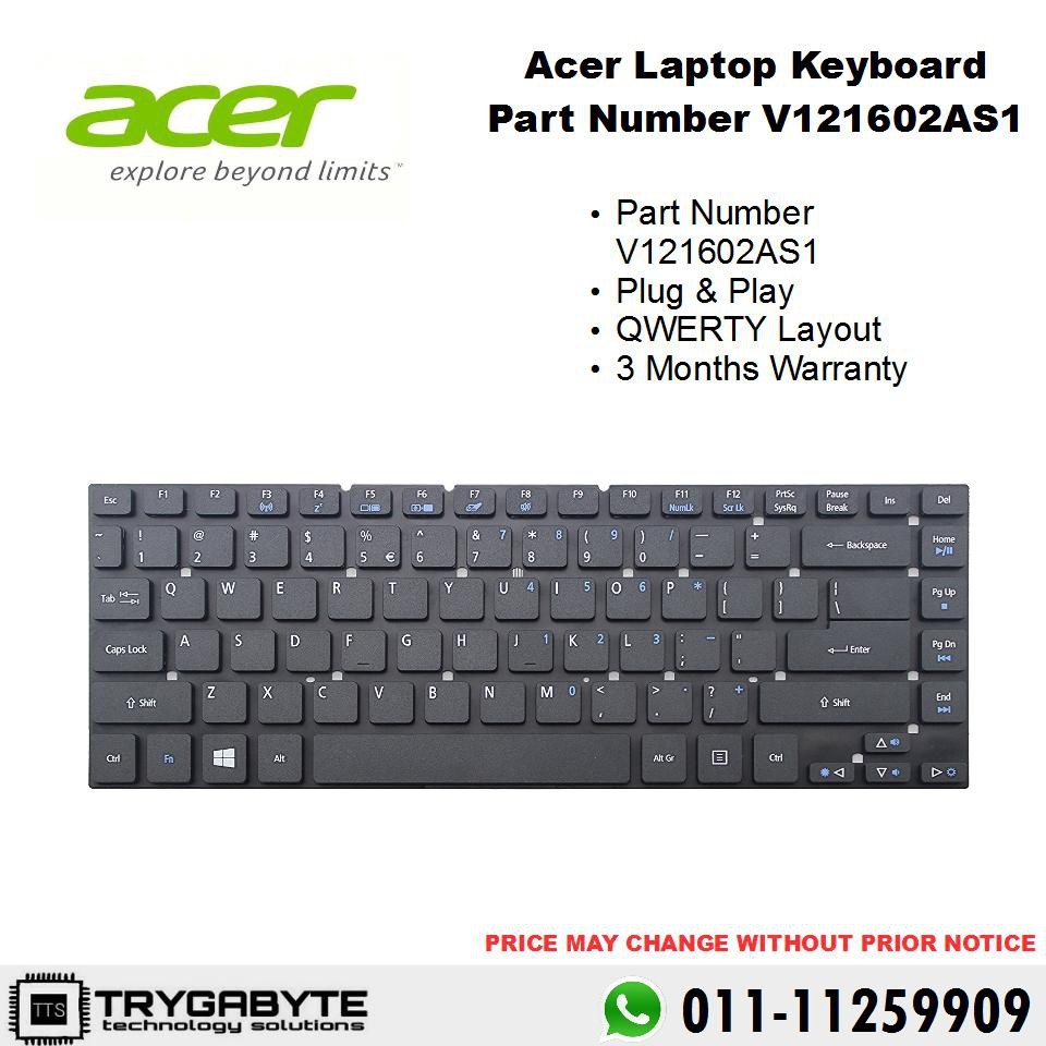 Laptop Acer Aspire Keyboard Part Number V121602as1 4736 4738 4740 Replacement Shopee Malaysia