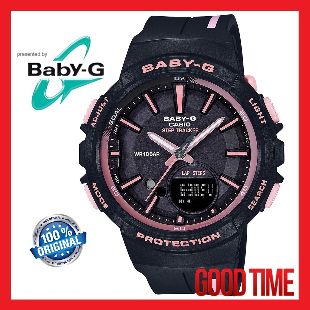 babd0b8f82f CASIO ORIGINAL BABY-G BGS-100RT-1A RUNNING SERIES LADY WATCH (2 YEARS  WARRANTY)