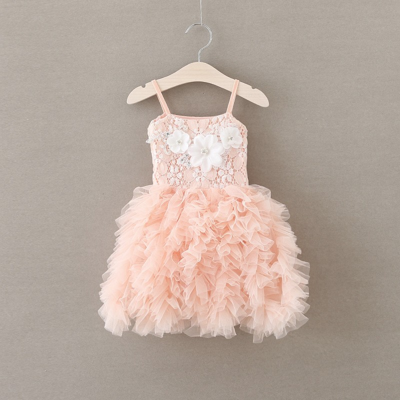 e0795cc643 Girls flower skirt dress fashion princess dress