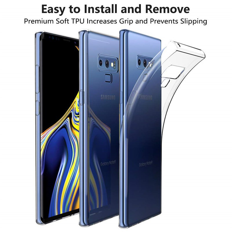 Samsung Galaxy Note 9 Case Silicone Transparent TPU Soft Back Note on