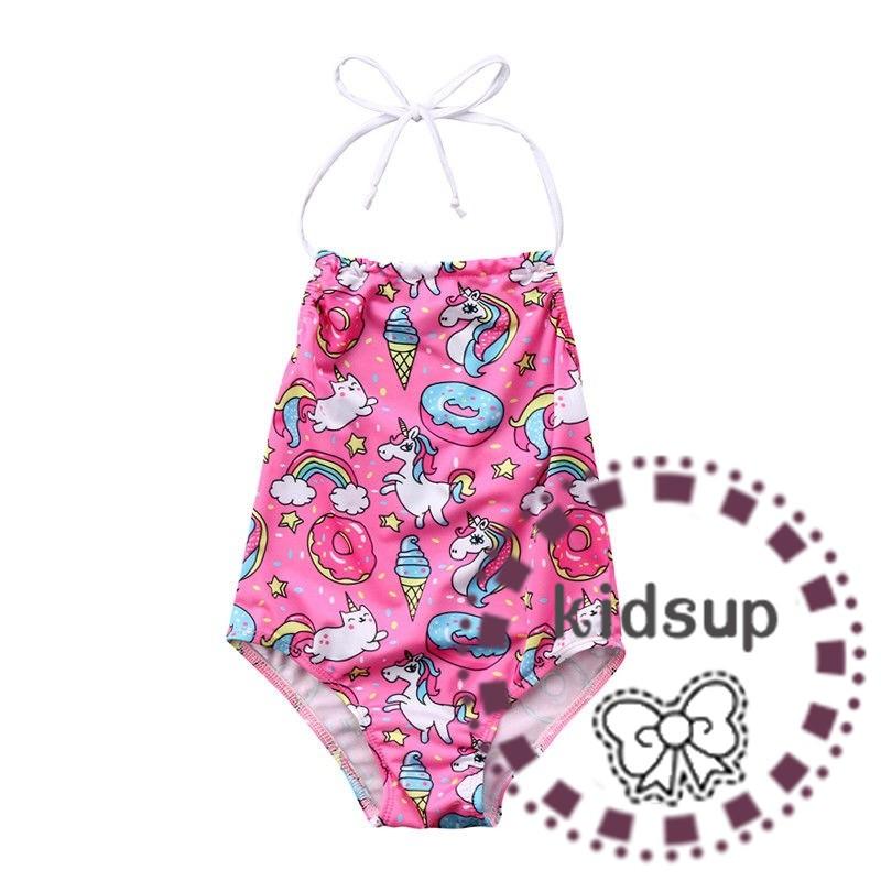 Rainbow Toddler Kids Baby Girl Swimsuit Bikini Swimwear Bathing Suit Beachwear