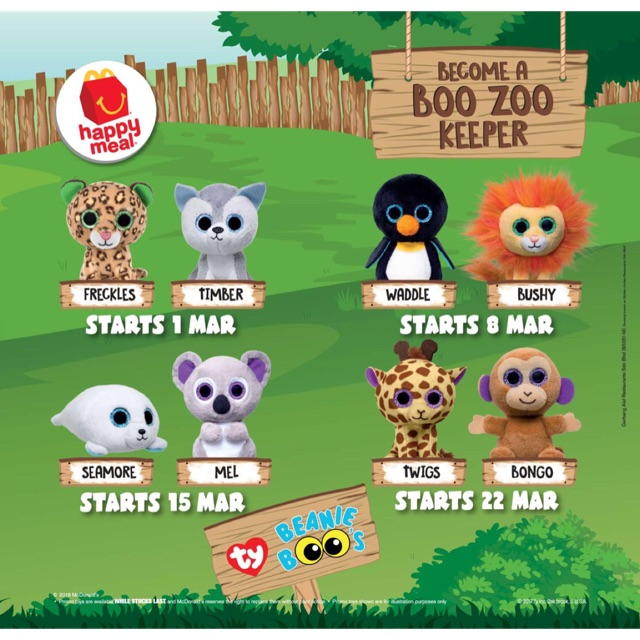 McDonald s Happy Meal Ty Beanie Boo s Happy Meal® Toys  0c578404c1d