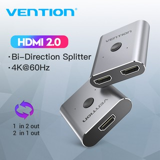 Vention Hdmi Switch 4k Hdmi Splitter Bi Directional 1 In 2 Out Or 2 In 1 Out Hdmi Selector Switcher Box For Tv Stick Pc Shopee Malaysia