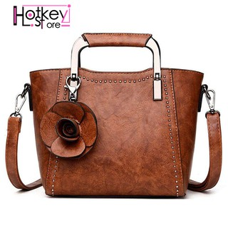 a79c1990418 Pu Leather Top Handle Mini Handbag For Women Rose Bag(Brown)   Shopee  Malaysia