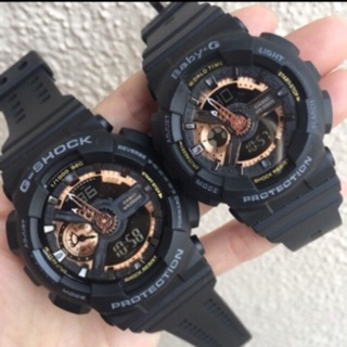 G shock couple watch set (Rose gold)