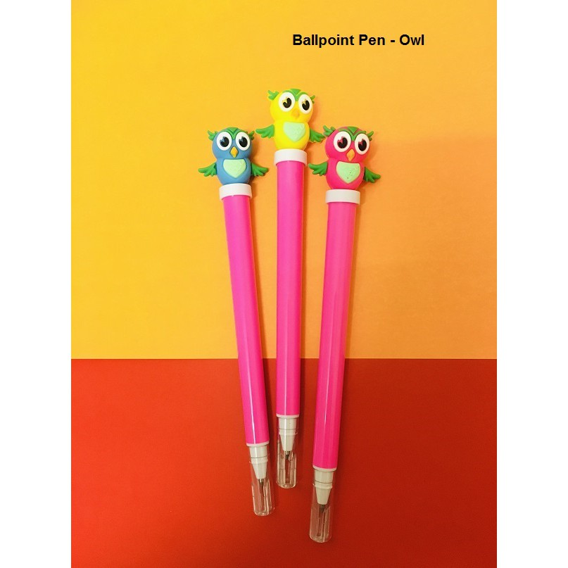Cute Cartoon Dinosaur/ Emoji/ Owl Ballpoint Pen, Black Ink