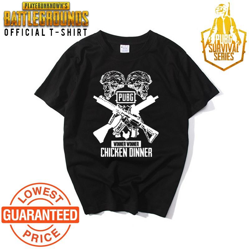 [🔥HOT ITEM🔥] PUBG CHICKEN DINNER Tshirt Unisex 100% Premium Quality Cotton