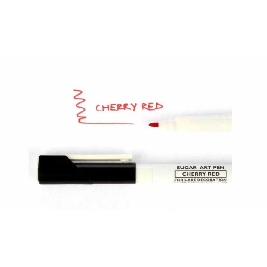 Sugarflair, Sugar Art Pen, Cherry Red