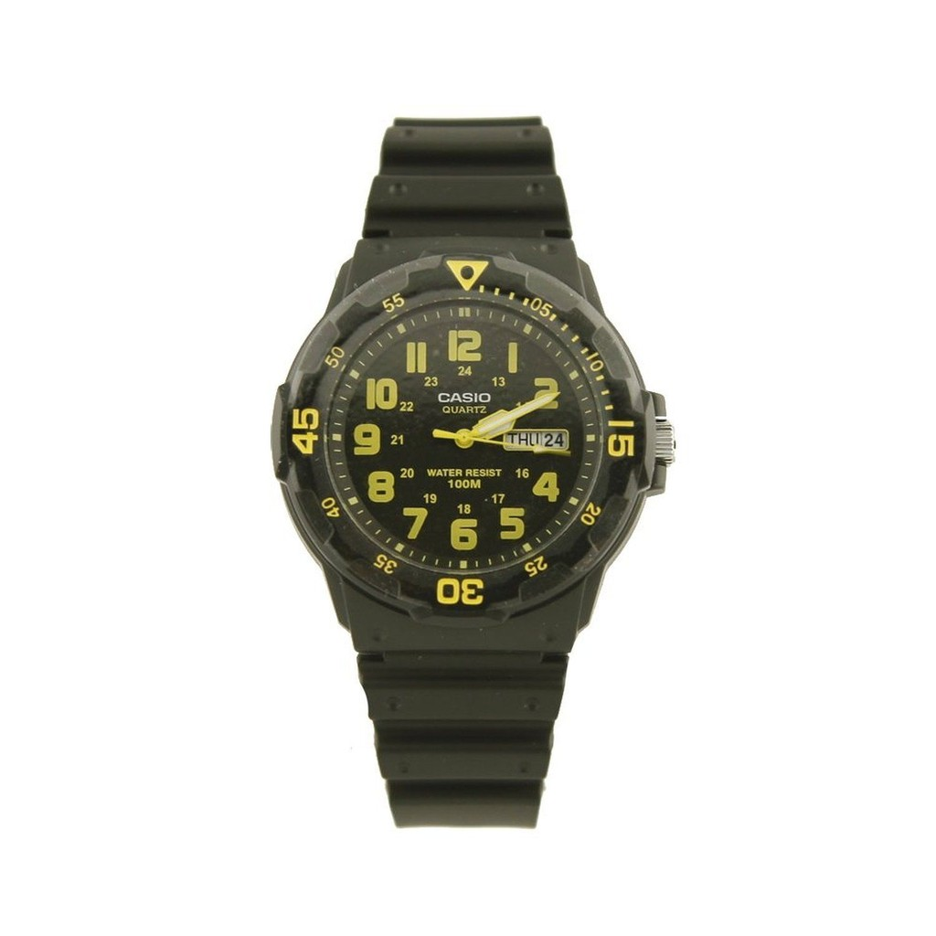 Casio Men\'s Sport Black/Yellow Analog Dive Watch MRW-200H-9BVDF