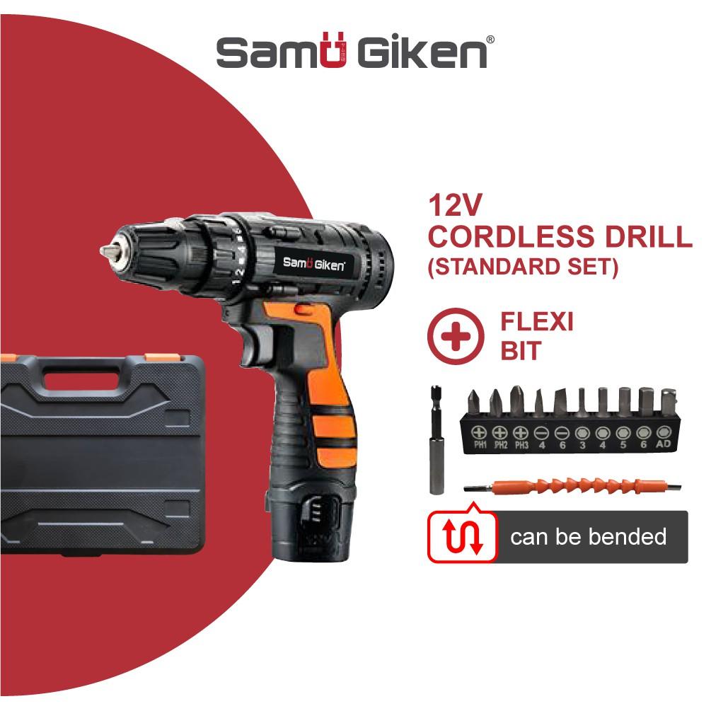 Samu Giken Cordless/Wireless Drill Screwdriver with Li-ion B...