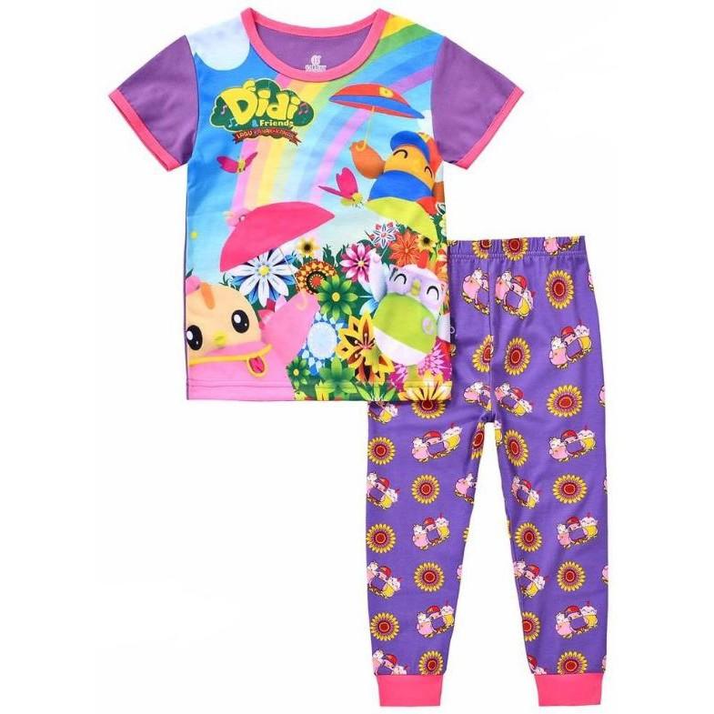 0e81af8a5e65 Caluby Purple Nana Rainbow Pyjamas (2Y-7Y)