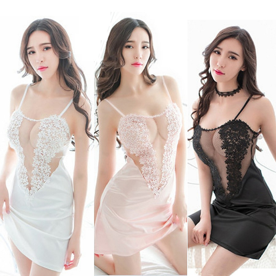 9d1943aff7  READY STOCK Pink Floral Emboidery Wedding Costume Sexy Lingerie Sleepwear  MS298