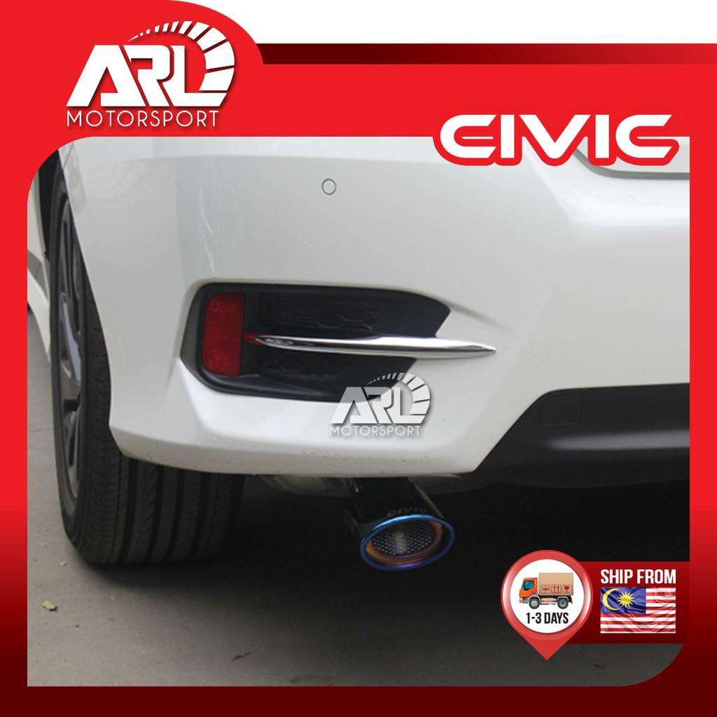 Honda Civic X (2016-2020) FC Rear Reflector Lining Chrome Car Auto Acccessories ARL Motorsport