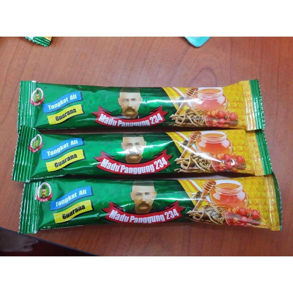 Original HQ Madu songkok tongkat ali/maca/guarana 20 paket