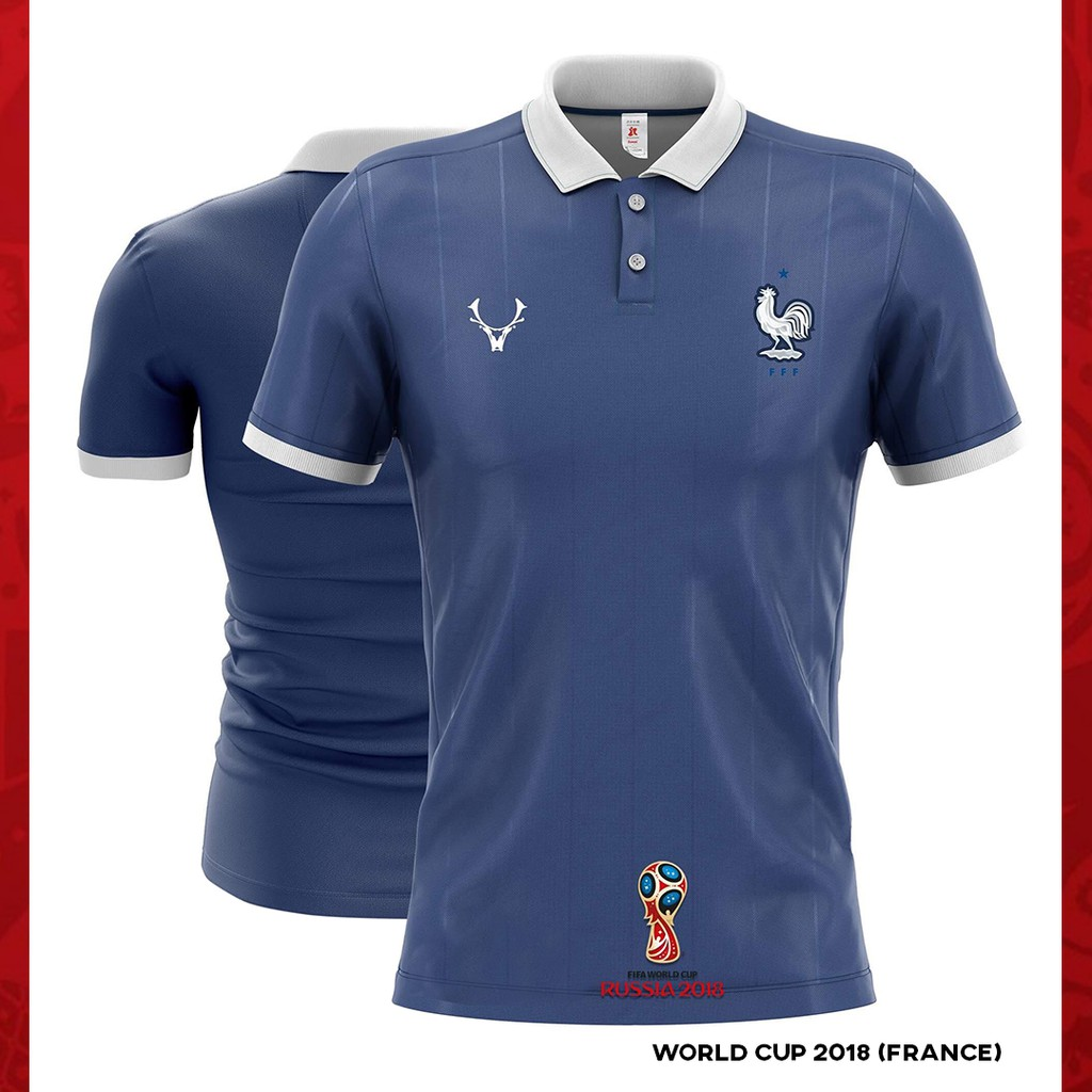 wholesale dealer f077a fceb7 [Readystock] FRANCE WORLD CUP 2018 POLO JERSEY