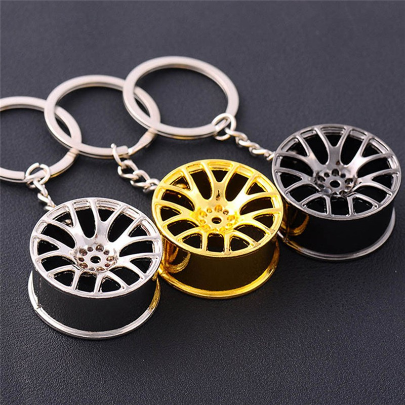 Butterfly Iron Car Wheel Rim Key Chain Keyring Men Charming Purse Bag Hanging Pendant