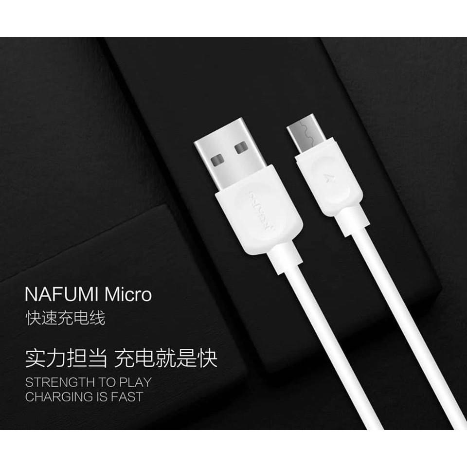 NAFUMI 001 MICRO 002 IOS 003 TYPE C FAST CHARGING DATA TRANSFER CABLE OUTPUT 2.1A 100CM QUICK CHARGE ANDROID LIGHTNING