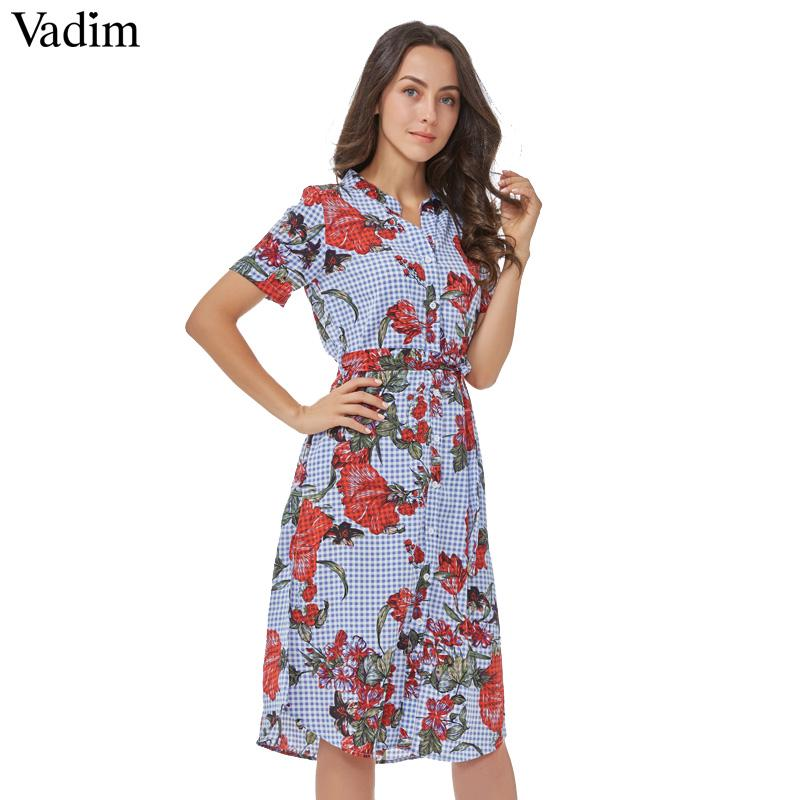 4928e59307312 Vadim women yellow mid calf dress sashes pockets short sleeve midi ...